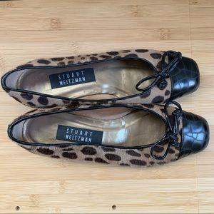 Stuart Weitzman leopard ballet flats | 6.5